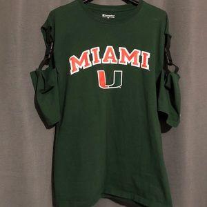 LF buckle University of Miami vintage shirt